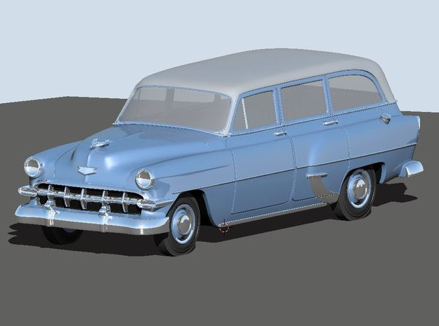 1954 Chevy Wagon 210 (2) N Scale Vehicles in Smooth Fine Detail Plastic