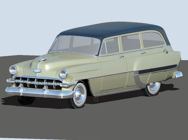 1954 Chevy Wagon Bel-air (2) N Scale Vehicles in Smooth Fine Detail Plastic