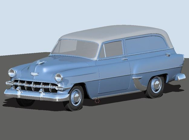 1954 Chevy Sedan Delivery 210 in White Natural Versatile Plastic