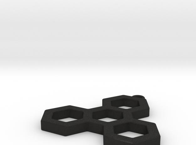 Hexatri pendant/keychain 3d printed