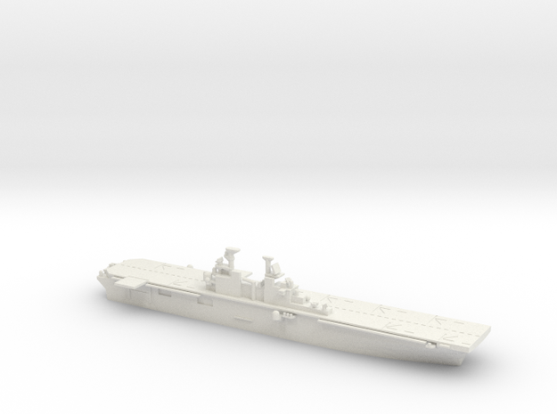 US Wasp-Class Helicopter Carrier in White Natural Versatile Plastic