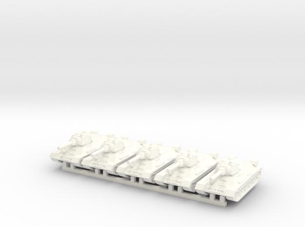 1/160 T-34 in Versalite in White Processed Versatile Plastic