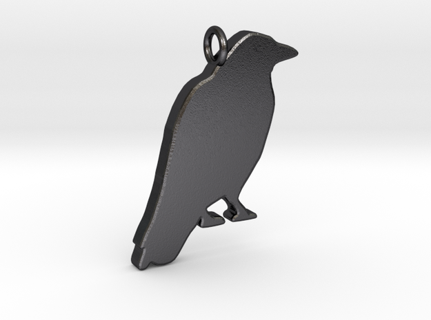 Crow in Polished and Bronzed Black Steel