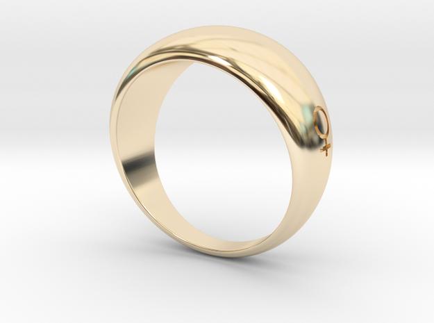 Feminity Soigne X 3DM in 14k Gold Plated Brass