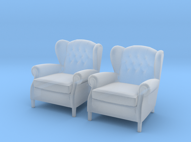 ArmChair 03.1:48 Scale in Smooth Fine Detail Plastic
