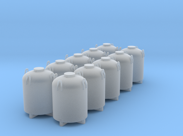 Cement Container - Set of 10 - Nscale in Smooth Fine Detail Plastic