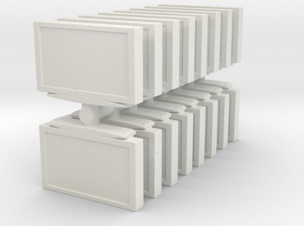 Television (x16) 1/120 in White Natural Versatile Plastic