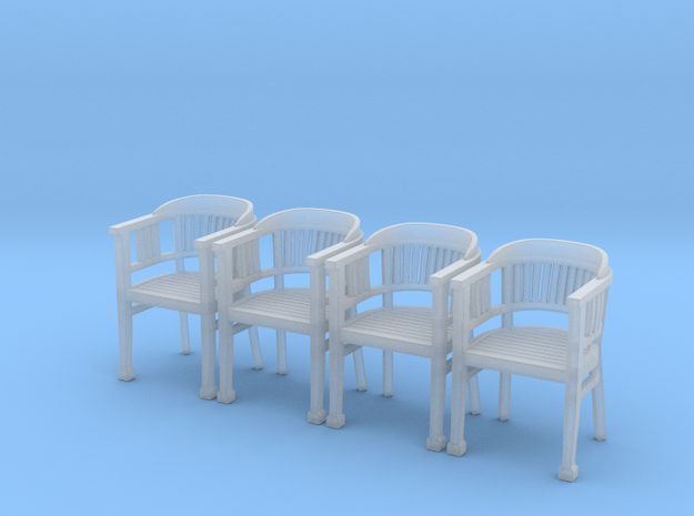 ArmChair 04.1:48 Scale in Smooth Fine Detail Plastic