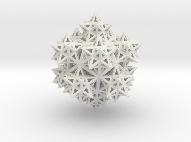 14 Stellated Dodecahedrons in White Natural Versatile Plastic