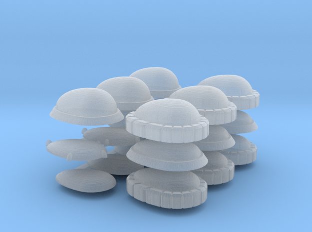 Set of Egg-Shaped Gems for Terrain and Models in Smoothest Fine Detail Plastic: Extra Small