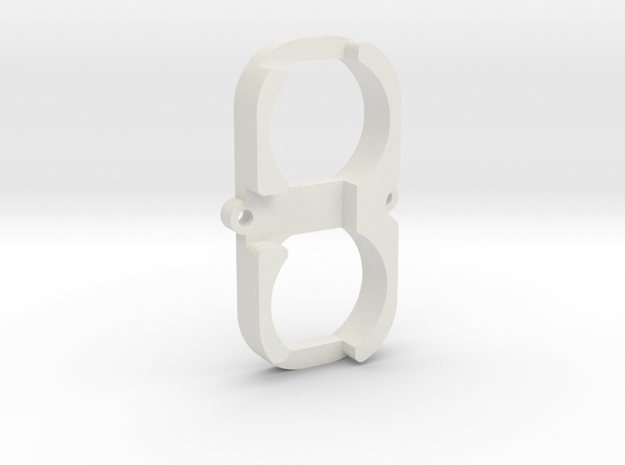 Led holder for MAXX HOPUP airsoft upgrade in White Natural Versatile Plastic