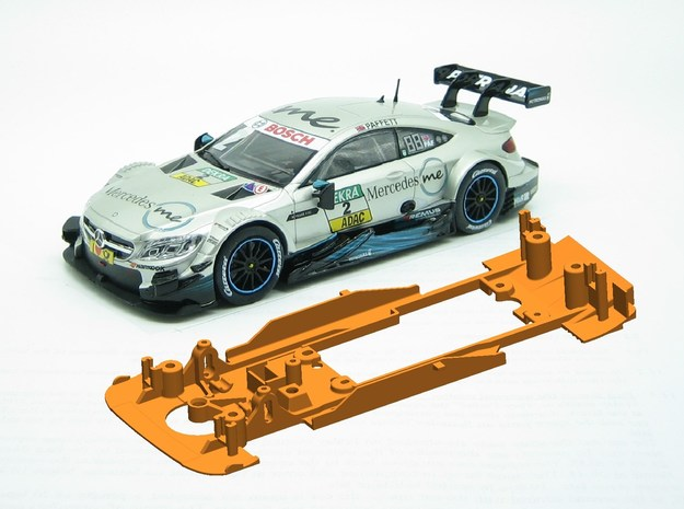 PSCA01902 Chassis for Carrera Mercedes AMG C63 DTM in White Natural Versatile Plastic