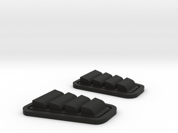 airvent set for TRX4 Defender in Black Natural Versatile Plastic