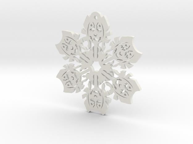 Nerdy Snowflakes - Ahsoka - 3in in White Natural Versatile Plastic