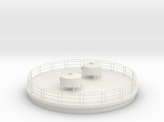 '1-50 Scale' -  Reactor Top in White Natural Versatile Plastic