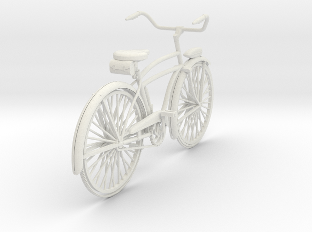1:16 M305-G319 Huffman Bicycle in White Natural Versatile Plastic