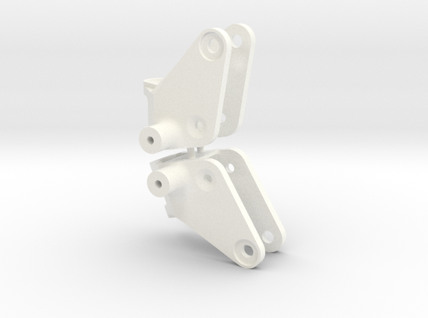 041003-01 Tamiya Frog Ampro Front Knuckle  in White Processed Versatile Plastic