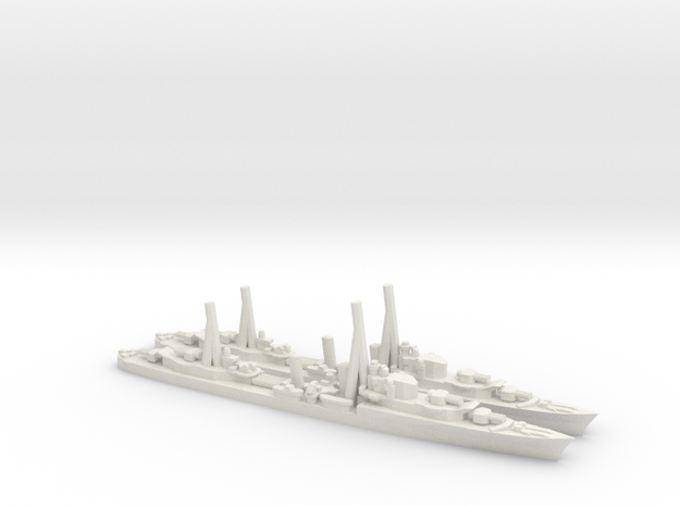 British Tribal-Class Destroyer in White Natural Versatile Plastic: 1:1800