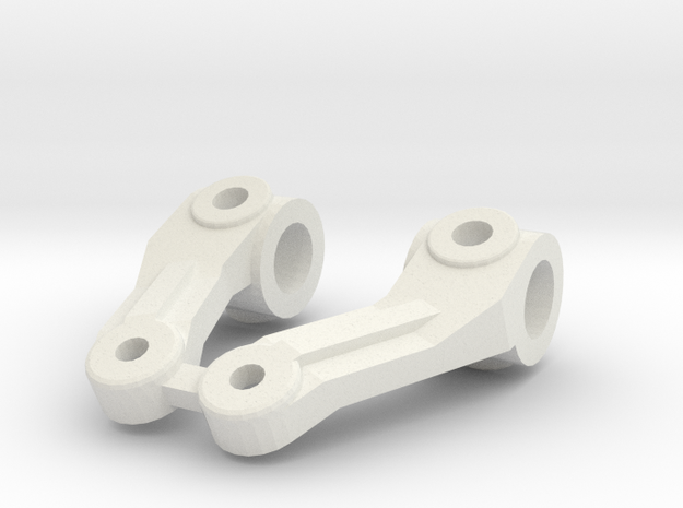 TRAXXAS TRX1 STEERING BLOCKS in White Natural Versatile Plastic