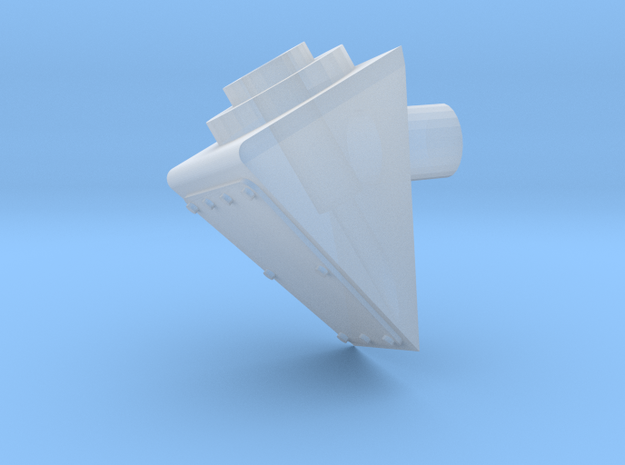 1:12 Antenna mount 20 degre in Smooth Fine Detail Plastic