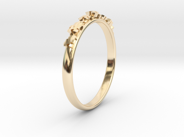 Jigsaw ring in 14K Yellow Gold: 5.5 / 50.25