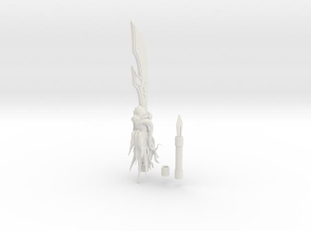 1/3 Scale Kanu Unchous Dragon Staff  in White Natural Versatile Plastic