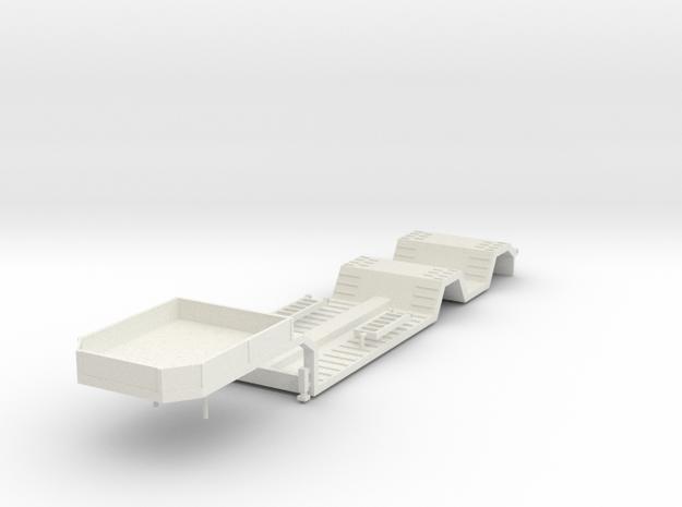 000682 Tieflader in White Natural Versatile Plastic: 1:87 - HO