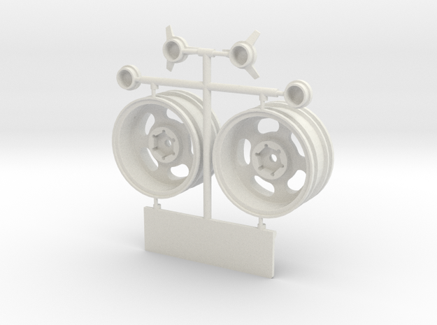 ASM001-1.9 In 0 mm Ofs Rr Wh Set in White Natural Versatile Plastic