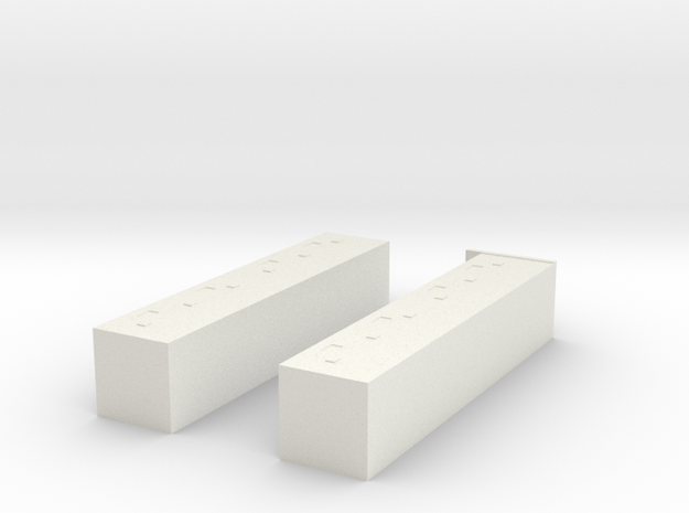 CN Pullman Battery Box (Large) in White Natural Versatile Plastic