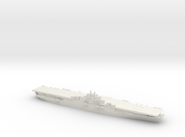 US Essex-Class Aircraft Carrier (v4) in White Natural Versatile Plastic: 1:1800