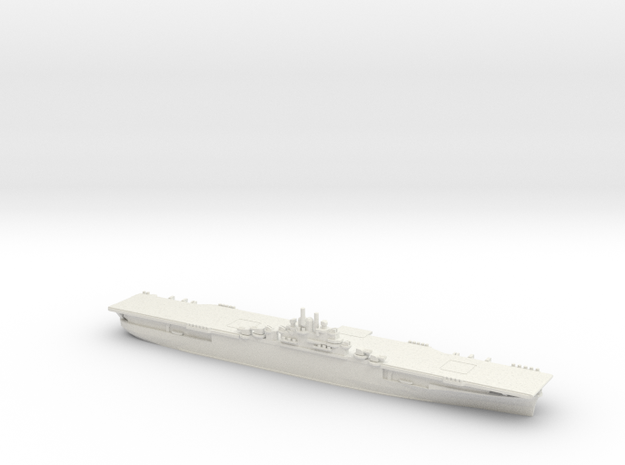 US Essex Class Aircraft Carrier (v1) in White Natural Versatile Plastic: 1:1800