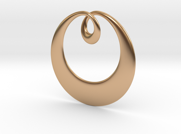 Curve Pendant in Polished Bronze