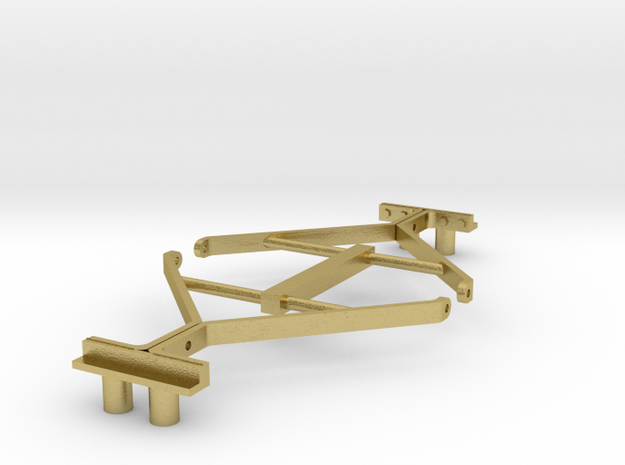 S12 End Handrail in Natural Brass