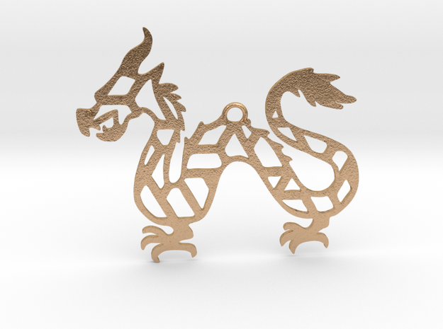 Year Of The Dragon Charm in Natural Bronze