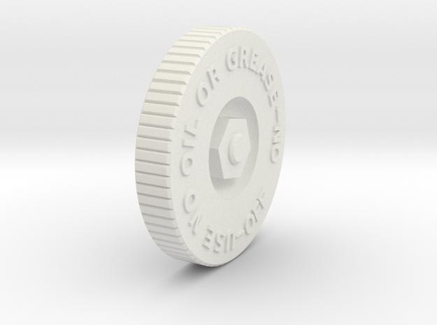 08.02.08.01 Oxygen Valve Handle Rev1 in White Natural Versatile Plastic
