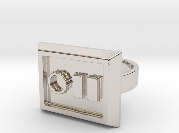 Not a Stormtrooper Ring (Size 9-10) 3d printed