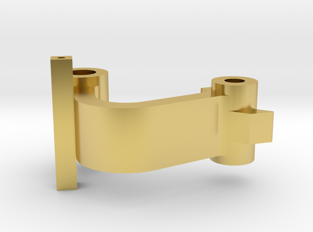 Scharnier_Knie in Polished Brass