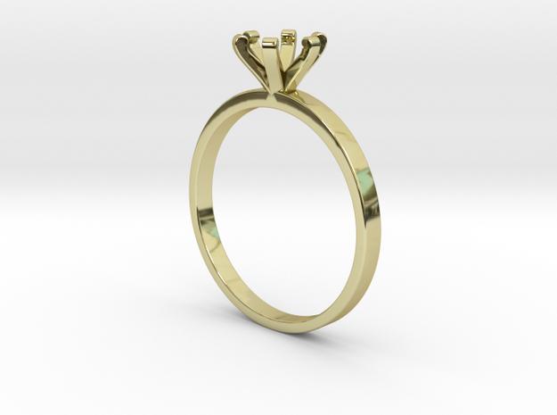 Plain Size 7 Ring - 6mm Gem - 6 prong v3 in 18k Gold