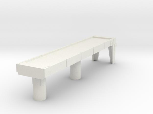 Starcom Starbase Display Stand Catwalk in White Natural Versatile Plastic
