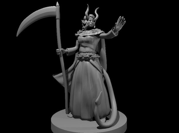 Tiefling Female Death Cleric 3 in Smooth Fine Detail Plastic