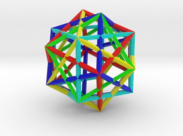 5 Cube Compound in Natural Full Color Sandstone