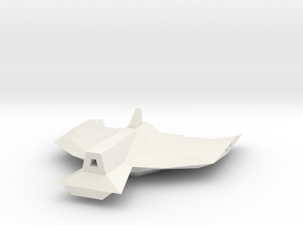 1/1000 Serpens Destroyer Secondary Hull (Kit part  in White Natural Versatile Plastic