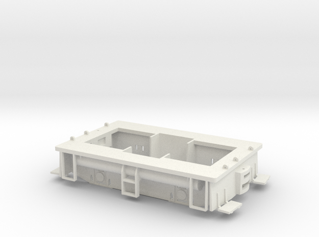 Fn3 23 Ton GE Box Cab Frame in White Natural Versatile Plastic