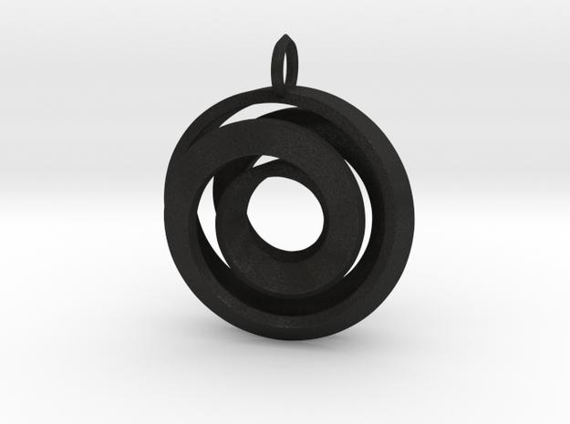 Single Strand Spiral Pendant 3d printed