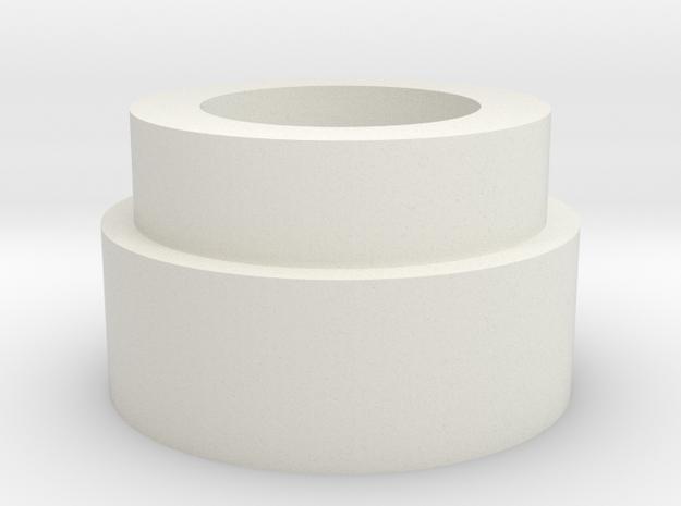 Blade Plug bottom (for spring) in White Natural Versatile Plastic