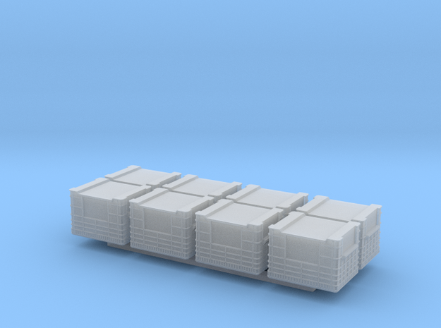 Docking Bay - eight crates, 1:72 in Smooth Fine Detail Plastic