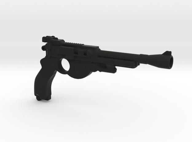 Mandalorian Blaster 12 in in Black Premium Versatile Plastic