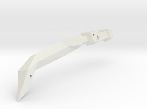 1/1000 Eta Lyrae Light Cruiser LEFT nacelle (part  in White Natural Versatile Plastic