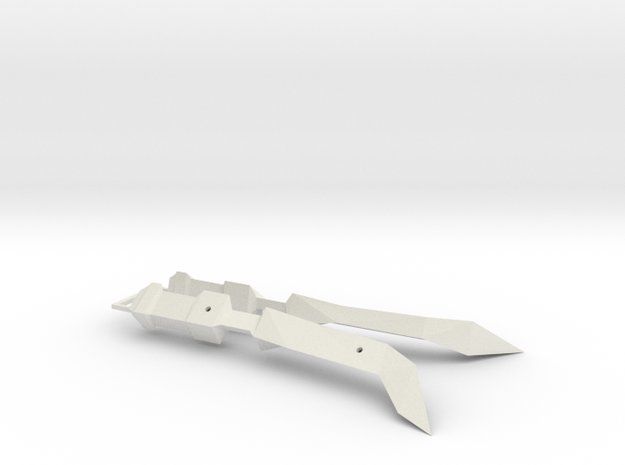 1/1000 Eta Lyrae Light Cruiser Nacelle Set Of Two  in White Natural Versatile Plastic