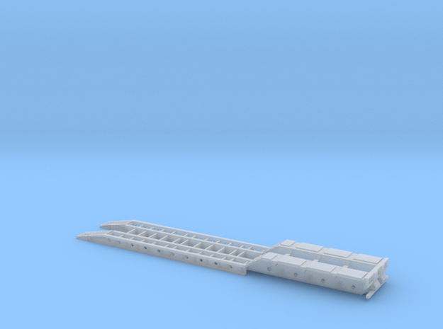 4-Axle Lowboy - Ramps Down, No Gooseneck in Smooth Fine Detail Plastic